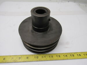 6 Od 3 V Belt Pulley Sheave 38 3 Groove 1 1 8 Id Thru Bore