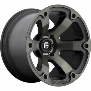 18x9 Black Flake Fuel Beast D564 6x5 5 12 Rims Trail Grappler Lt285 65r18 Tires