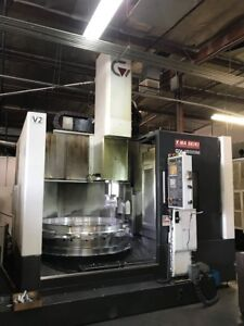 Used Yama Seiki Gv 1600m Cnc Vertical Boring Mill New 2014