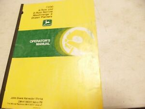 John Deere 7200 4 row 6 row Maxemerge 2 Drawn Planters Operator s Manual