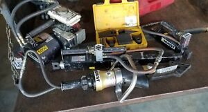 Hurst Jaws Of Life Rescue Set Tools W Hydraulic Pump Motor Accessories