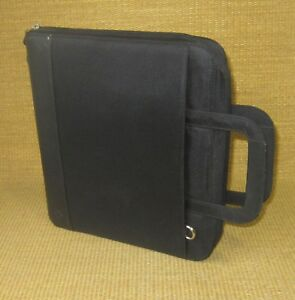 Monarch folio 1 25 Rings Black Durable Franklin Covey Zip Planner binder