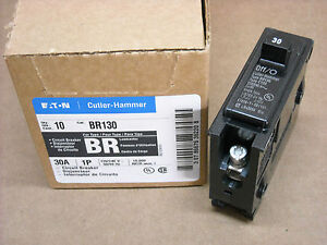 Box Of 10 Cutler Hammer Br130 Circuit Breakers 30 Amp 1 Pole 120 240 Volt