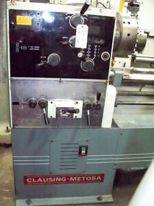 9982 Clausing Metosa 24 32 X 124 Toolroom Lathe