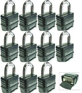Combination Lock Set By Master 1178d lot 11 Resettable Weather Sealed Carbide