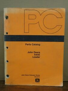 Oem Factory John Deere Jd 644e 644 E Front End Wheel Loader Parts Catalog Manual