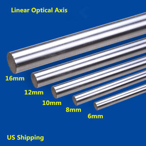 2x 300 1000mm Cylinder Linear Rail Linear Shaft Optical Axis Od 6 8 10 12 16mm