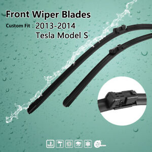 28 17 Exact Fit Front Windshield Wiper Blades For 2013 2014 Tesla Model S