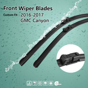 22 18 Exact Fit Front Windshield Wiper Blades For 2016 2017 Gmc Canyon