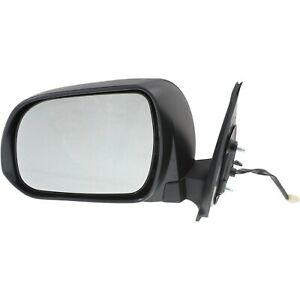 Power Mirror For 2012 2015 Toyota Tacoma Manual Folding Textured Black Left