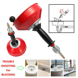 Power Spin Snake Clean Drain Auger Cleaner Plumbing Tool Sink Pipe Plunger Tool
