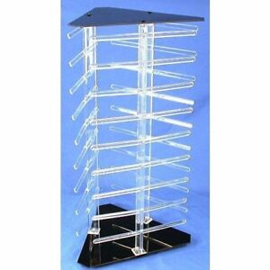 Revolving Rotating Acrylic Earring Display Holds 108 2 Cards
