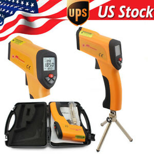 Non contact Digital Gun Ir Infrared Temperature Meter Thermometer With Mount