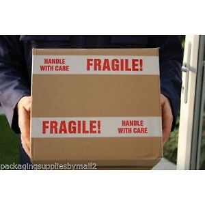 144 Rolls Fragile Tape Printed Box Shipping Packing 3 inch X 110 Yards 2 Mil