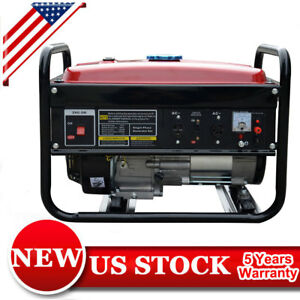 New 4000 Watt Portable Generator Gas Powered Rv Camping Standby 7hp Outdoor Red