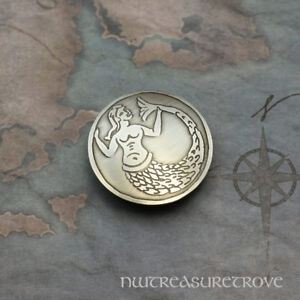 Medieval Mermaid Nickel Silver Hair Tie Nht 16
