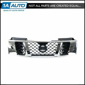 Grille Grill Chrome Black Honeycomb Style Front For 08 14 Nissan Titan
