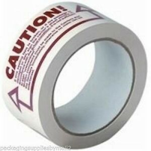 36 2 inch X 110 Yards Caution Printed Box Packing Shipping Tape