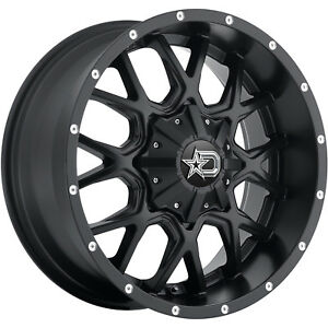 18x9 Black Dropstars 645b 5x4 5 5x5 10 Wheels Nitto Trail Grappler 285 65 18