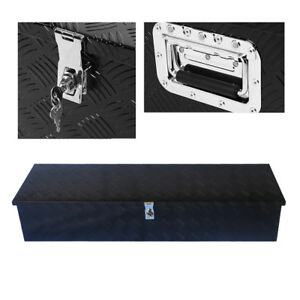 49 x13 aluminum Tool Box Tote Storage For Truck Pickup Bed Trailer Tongue W lock