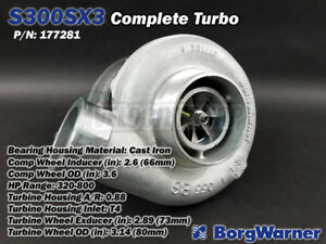 Borg Warner S300sx3 Turbo T4 66mm Inducer 73mm Exducer 320 800hp
