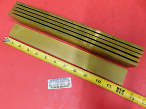 6 Pieces 1 4 X 1 1 2 C360 Brass Flat Bar 12 Long Solid Mill Stock H02 25