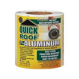 Quick Roof Aluminum Self Stick Instant Waterproof Repair And Flashing Silver