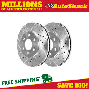 Front Drilled Slotted Performance Rotors Pair 2 Fits 04 05 Nissan Titan 980197