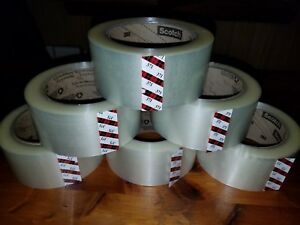 3m 371 Scotch Clear Packaging Tape 2 x110yd 48mmx100m Carton Sealing Box Ship