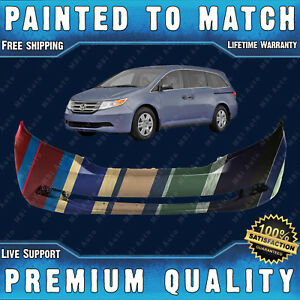 New Painted To Match Front Bumper Fascia Direct Fit For 2011 2013 Honda Odyssey