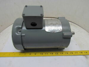Boston Gear Futf b 66223 3 phase Electric Motor 1 2hp 1725 Rpm 208 230 460v 56c