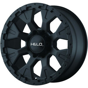 18x9 Black Helo He878 8x6 5 12 Wheels Nitto Trail Grappler 285 65 18 Tires