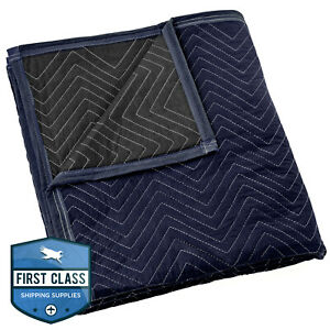 Moving Blanket Furniture Pad Pro Economy 80 X 72 Navy Blue And Black
