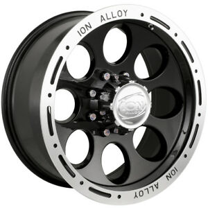 18x9 Black Alloy Ion Style 174 5x5 0 Rims Nitto Trail Grappler 285 65 18 Tires