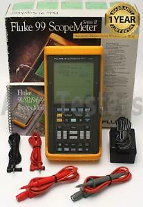 Fluke 99 Scopemeter Series Ii 50 Mhz Dual Input Oscilloscope Scope Meter