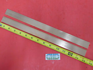 2 Pieces 1 8 X 1 C110 Copper Bar 14 Long Solid Flat Mill Bus Bar Stock H02
