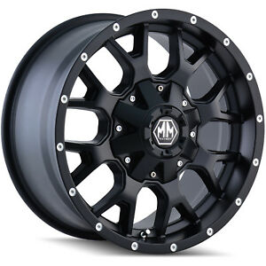 18x9 Black Mayhem Warrior 8015 8x180 18 Rims Nitto Trail Grappler Lt285 65r18