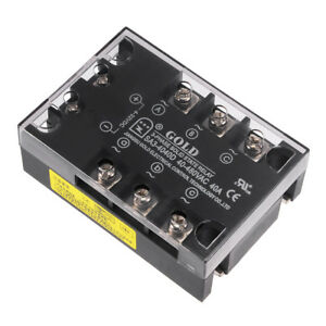 Sa34040d 4 32vdc To 40 480vac 40a Three Phase Solid State Relay Module Dc To Ac