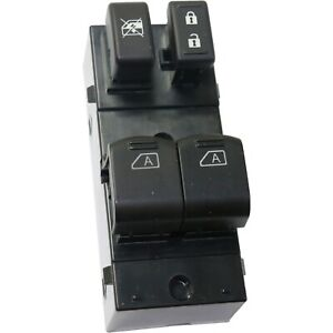 New Power Window Switch Front Driver Left Side Black Lh Hand 25401zj00a