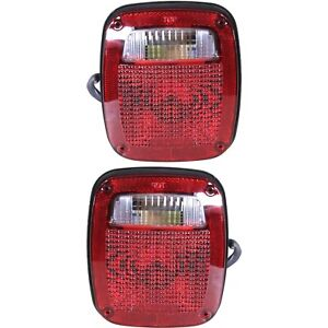 Pair Tail Light For 98 06 Jeep Wrangler tj Driver Passenger Side