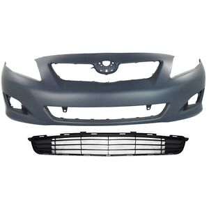 Bumper Cover Kit For 2009 10 Toyota Corolla Front Primed 2pc