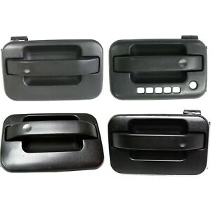 Door Handle Set For 2004 14 Ford F 150 With Driver Side Keypad Hole Textured 4pc