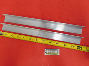 2 Pieces 1 X 1 X 1 8 Aluminum 6061 Angle Bar 12 Long T6 Mill Stock