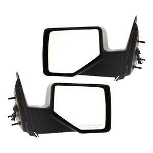 Power Mirror For 2006 2011 Ford Ranger Textured Black Manual Folding Set Of 2