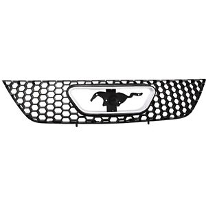 Grille For 99 2004 Ford Mustang Textured Black Plastic