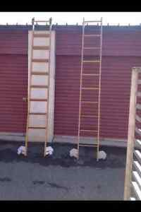 Putnam Rolling Library Ladders Wood Vintage Track Wheels Hardware Store Wood