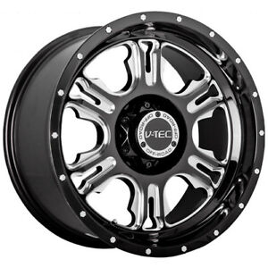 18x9 Black V tec Rage 6x5 5 12 Wheels Nitto Trail Grappler 285 65 18 Tires