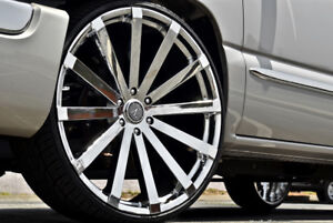 Velocity V12 26 Wheels Rims Tires Fit Chevy Cadillac Gmc Ford Lincoln Escalade