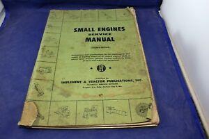 1955 Implement Tractor Cushman Clinton Reo Onan Gladden Lauson Service Manual