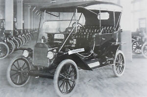 1911 1912 Model T Touring Good Detail 12 X 18 Black White Picture